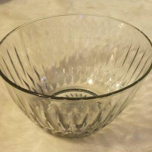 Large Lead Crystal Diamond Design Bowl